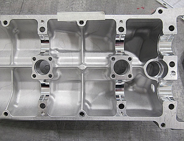 Cam Bore Journals on Cylinder Head Reamed with Shefcut Reamer by Cogsdill