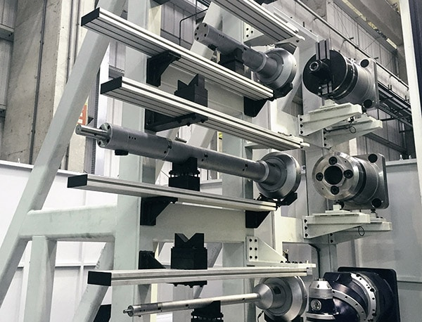 ZX Tool stacker system by Cogsdill on a Soraluce RAM type Machine