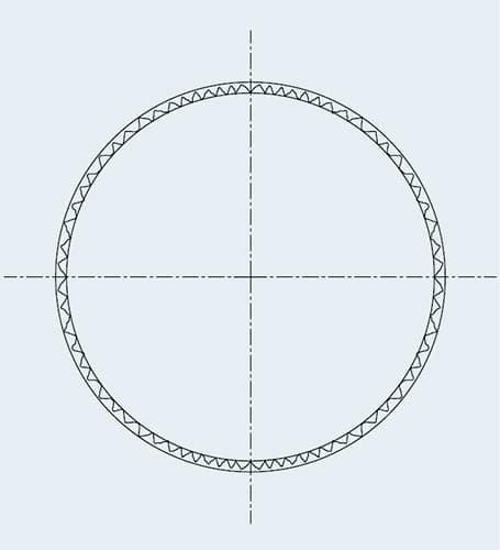Lochgeometrie nach dem Reiben mit Shefcut Reaming mit Cogsdill