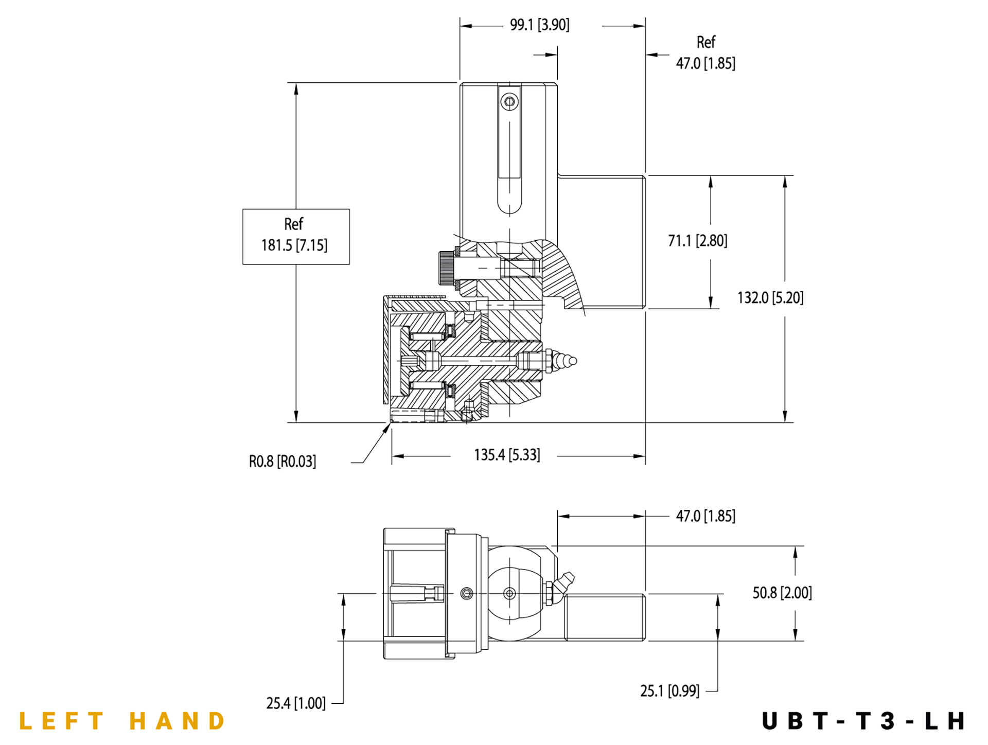 UBT-T3 LH specifications